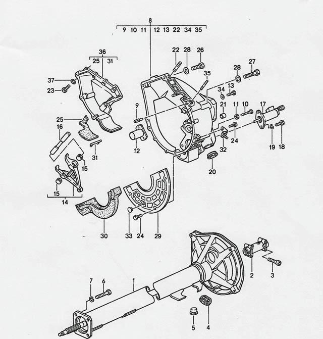 Porsche 968 Transmission Clamping Screw