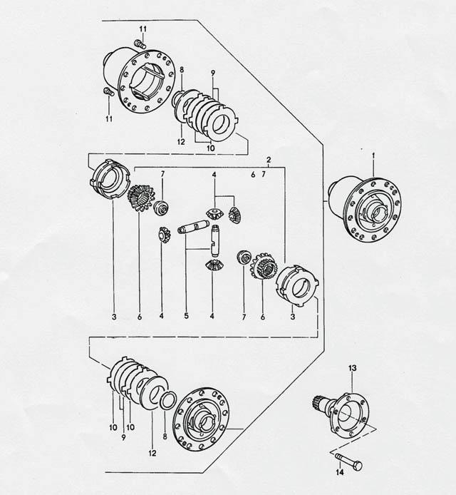 Porsche 968 (G44) Transmission limited slip diff 1992-95