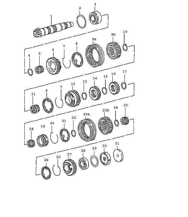 Porsche BoxsTransmission ter 1St Gear