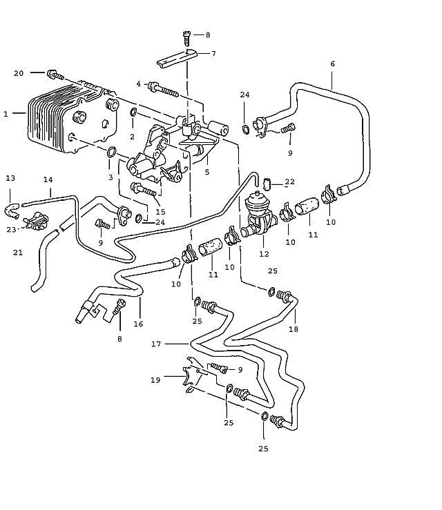 Porsche BoxsTransmission ter Water Line Supply 01-