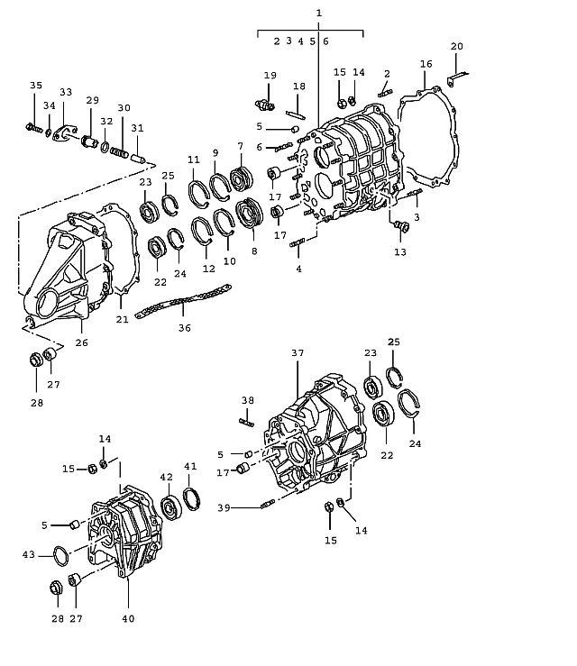 Porsche 993 1995-1998 Cylindrical-roller bearing 3…
