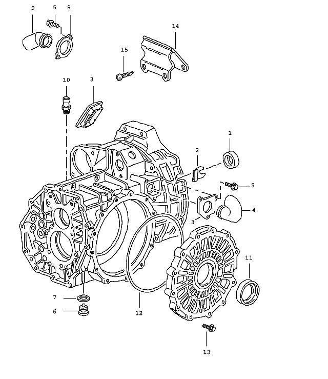 Porsche 911 Transmission Transmission case g96.50 (302-01)