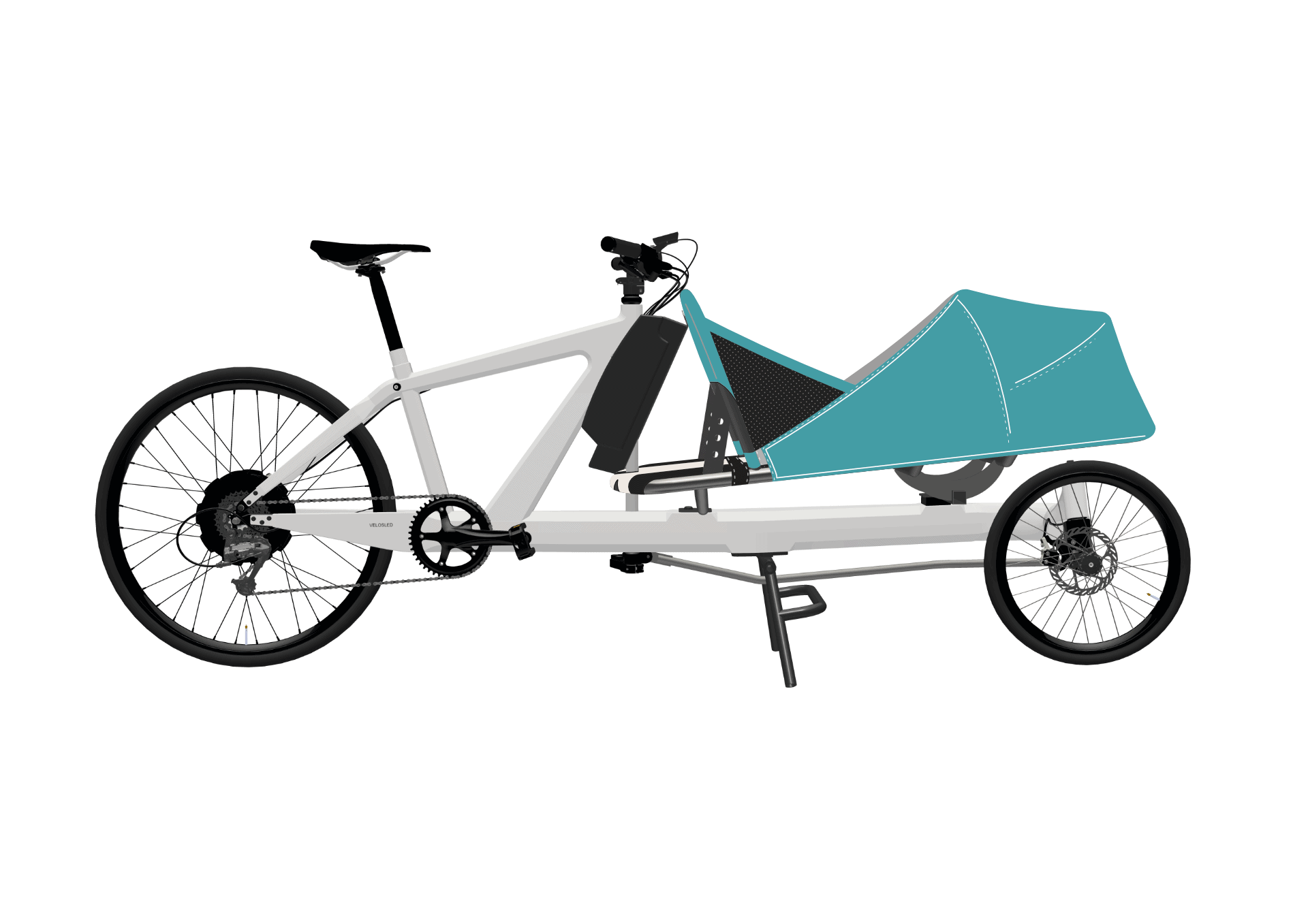 VeloSled Anna Electric Family Cargo Bike