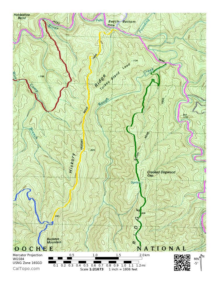 Hickory Map Ridge Trail
