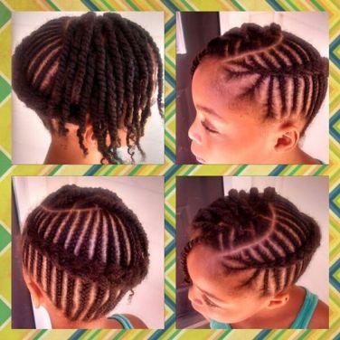 Cornrows + Two Strand Twists