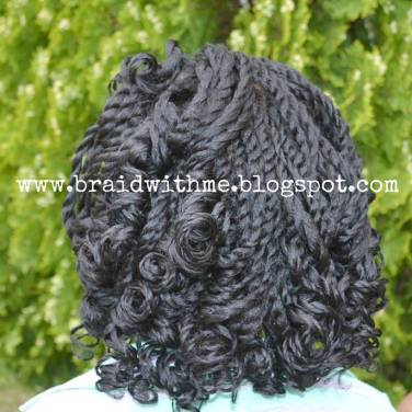 Two Strand Twists with coiled ends using rollers