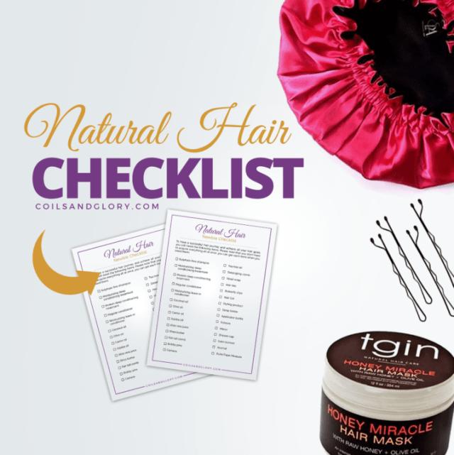 natural hair checklist