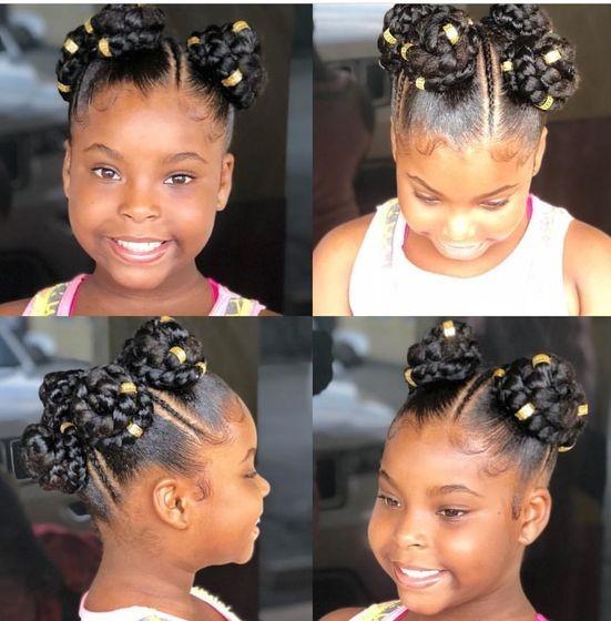 black kids holiday hairstyles
