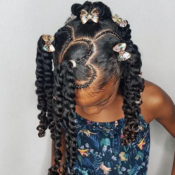 black kids holiday natural hairstyle