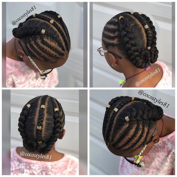 12 Easy Winter Protective Natural Hairstyles For Kids ...