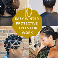 10 Easy Natural Hair Winter Protective Hairstyles For Work Without Extensions 💜