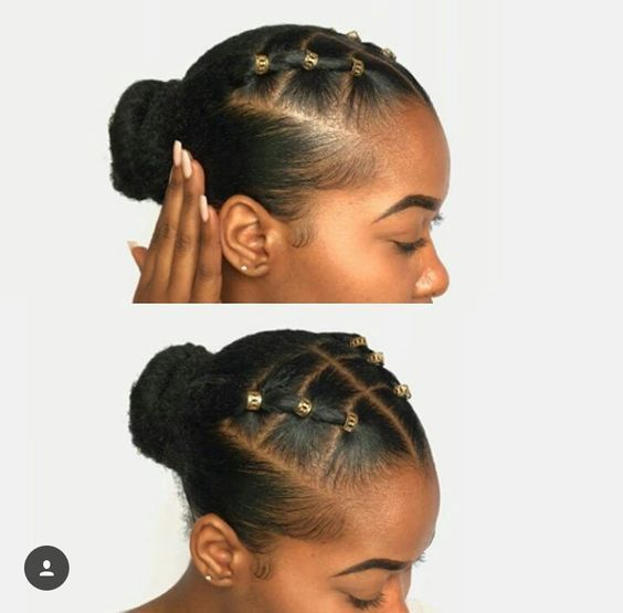 winter protective styles for short natural hair