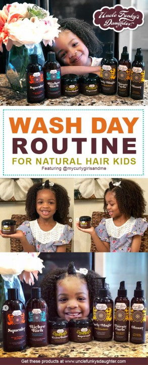 natural hair kids wash day regimen