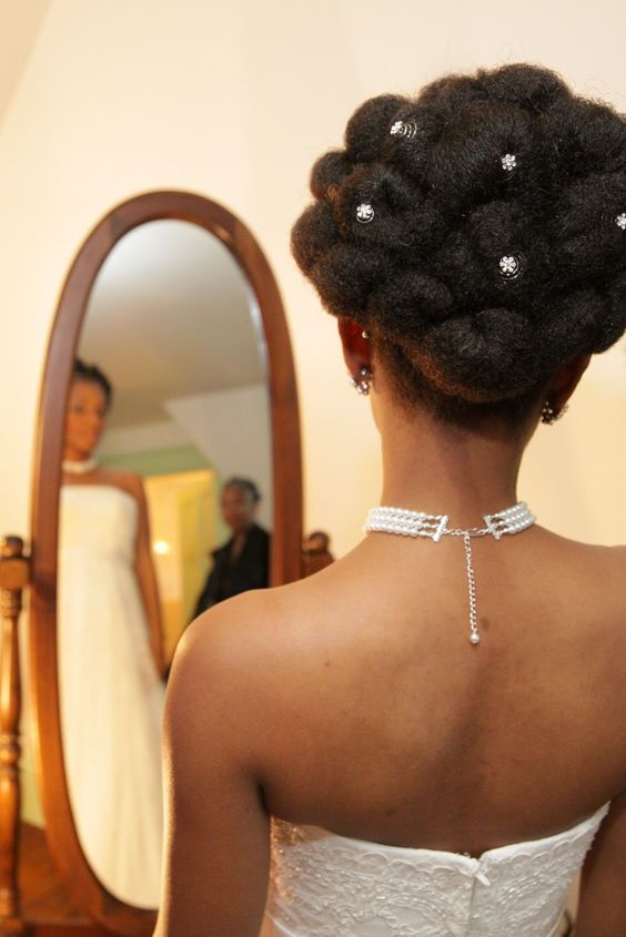 wedding updos for natural hair