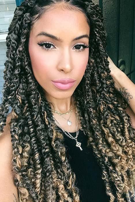 passion twist hairstyle ombre