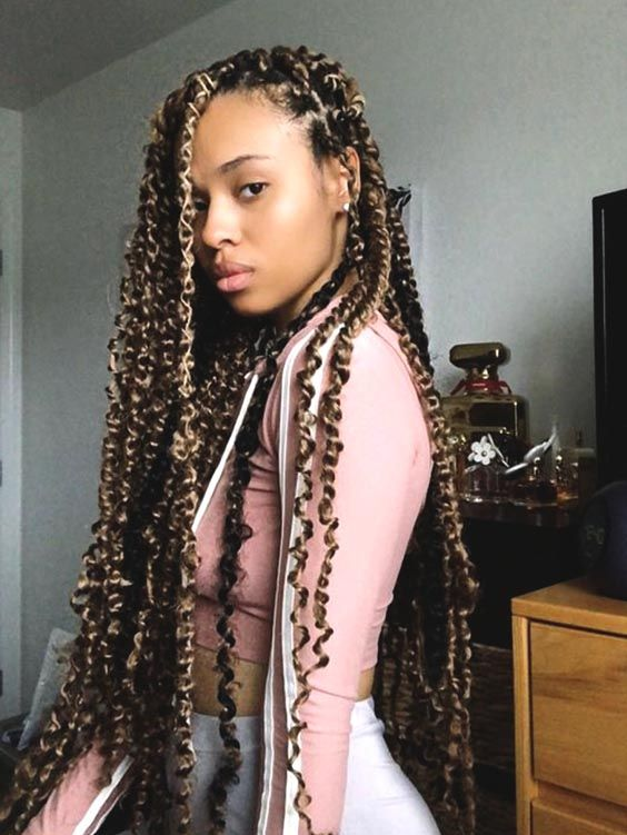 ombre passion twist hairstyle idea