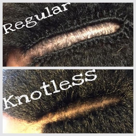 knotless crochet braids with yaki hair