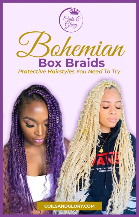 bohemian box braids styles on 4c hair