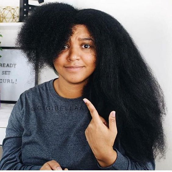 4c natural hair shrinkage before and after