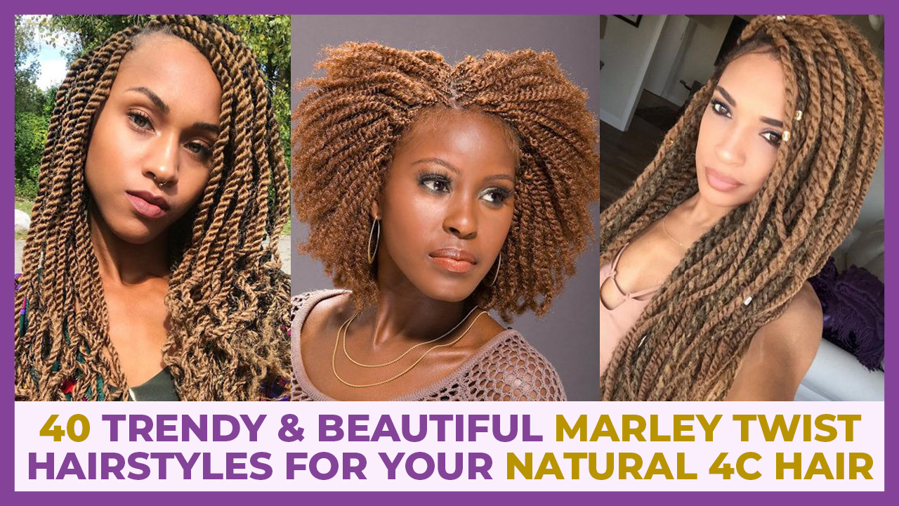 marley twist hairstyles on 4c hair