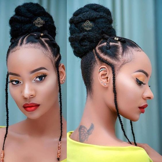 rubber band natural hairstyles