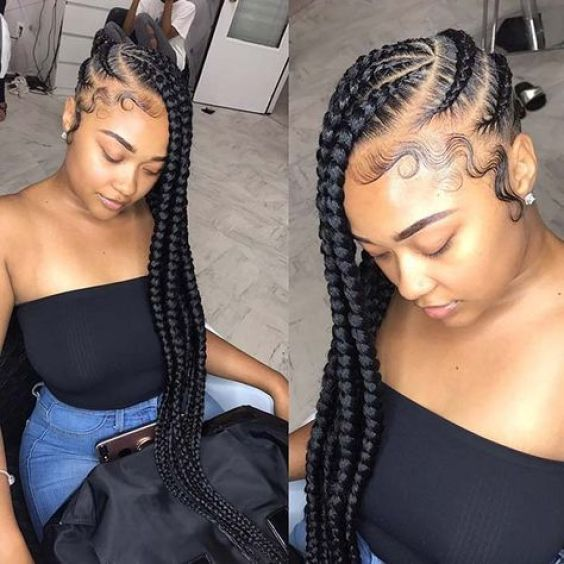 Thick Wheel-Pattern Braids