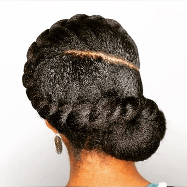 flat twists hairstyle for weddings