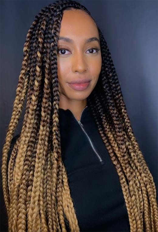 Ombre Box Braid Hair