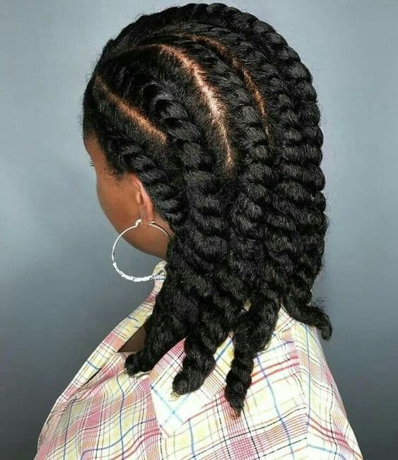 simple flat twist hairstyles on 3b hair