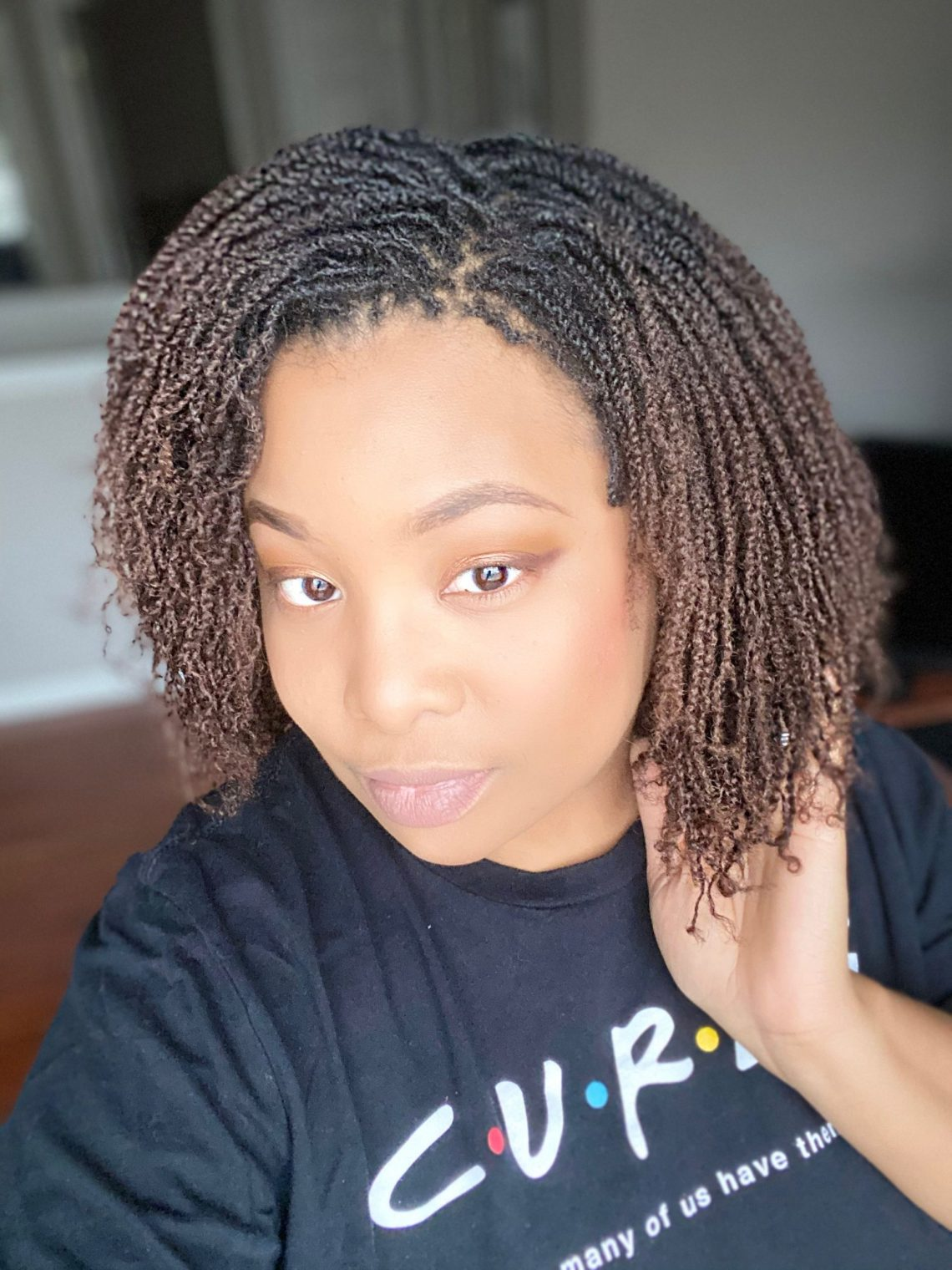 micro twists on 4a natural hair