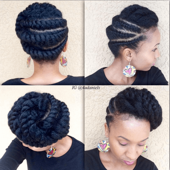 flat twist hairstyles on 4c hair