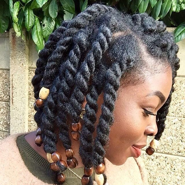 two strand twist with marley hair