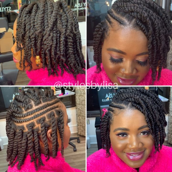 two strand twist on 4c hair