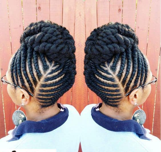 flat twist styles for thick hair