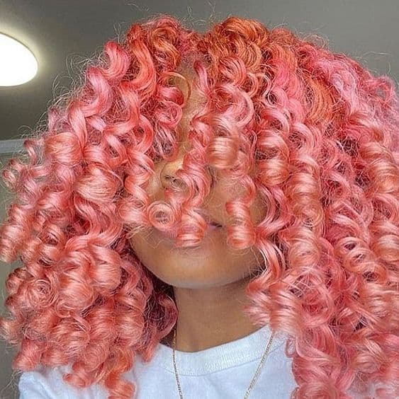 perm rods on long natural hair