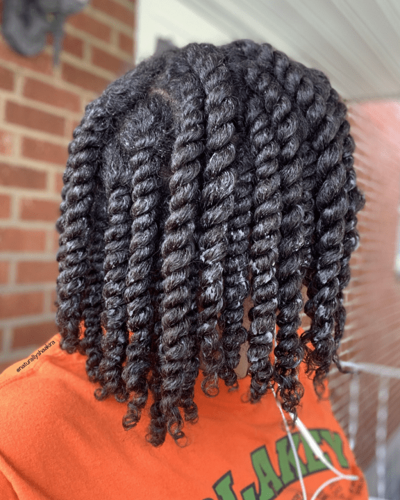 Shoulder length two strand twists