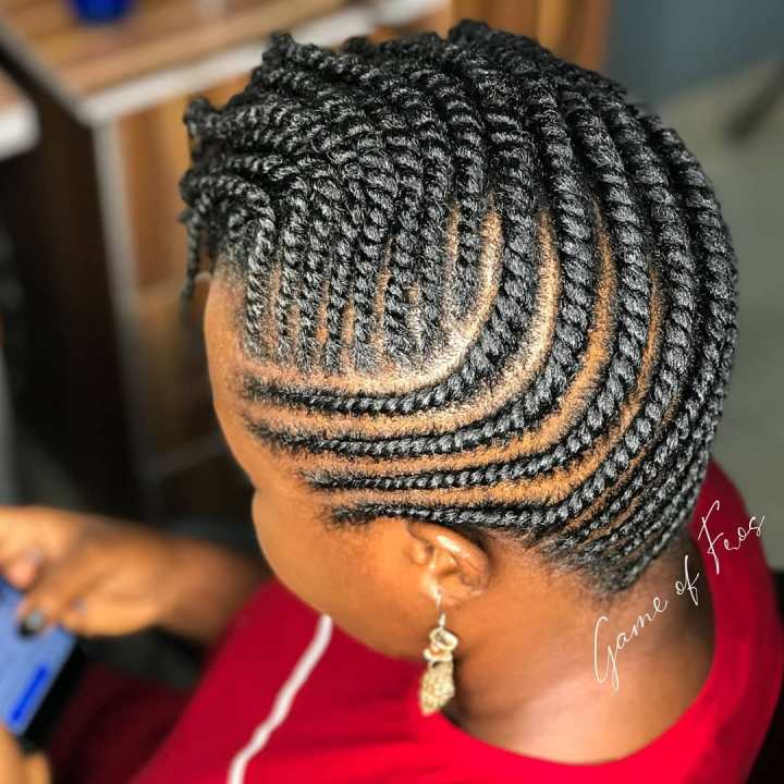 flat twists style on 4c hair