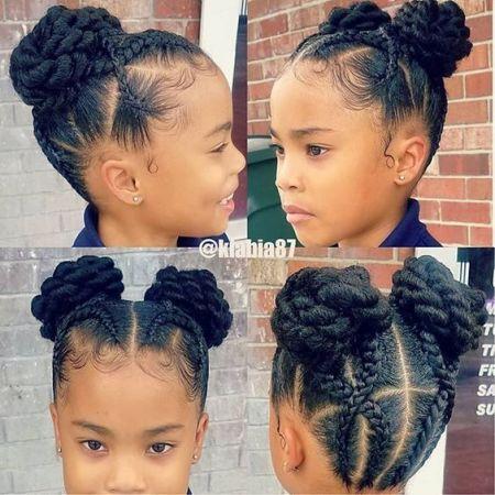 pretty little black girl braids
