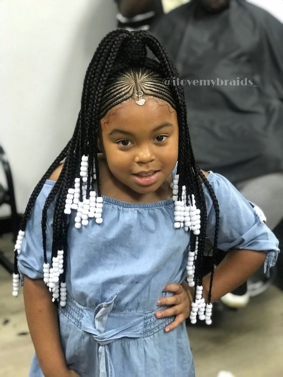 little black girl braids with beads