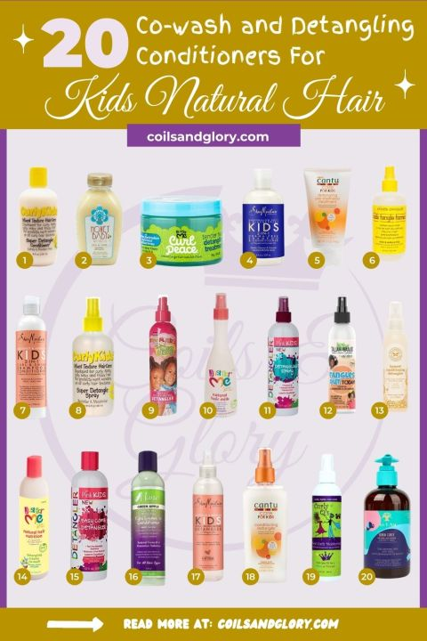 KIDS DETANGLING CONDITIONERS TO REMOVE KNOTS AND TANGLES