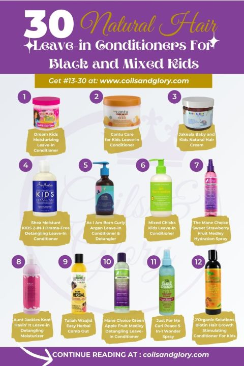 NATURAL HAIR LEAVE-IN CONDITIONERS FOR BLACK KIDS AND BIRACIAL KIDS