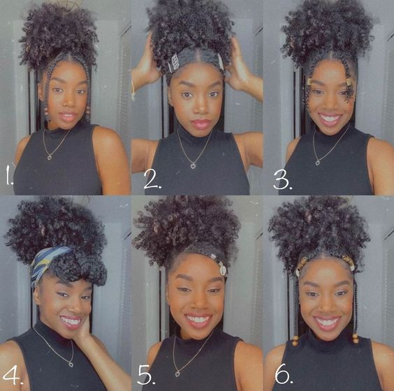 afro puff hairstyles on natural hair