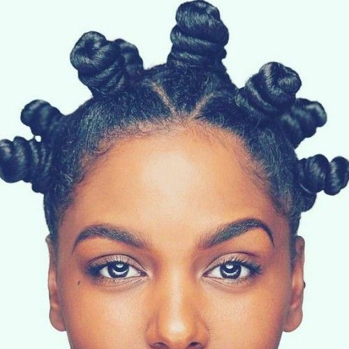 bantu knots on type 4 hair