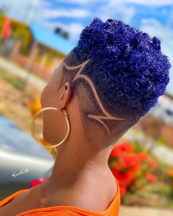 short fade haircut on black women