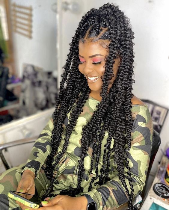 passion braids on natural hair