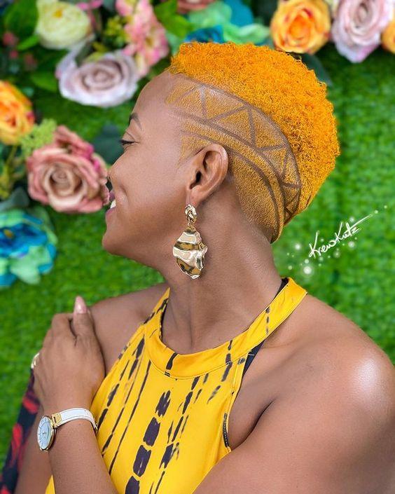 low cut hairstyle on black women