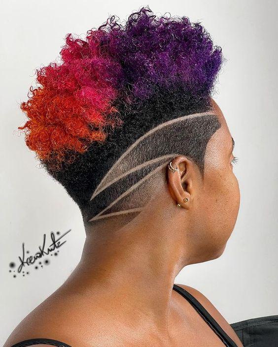 fade haircut on black women