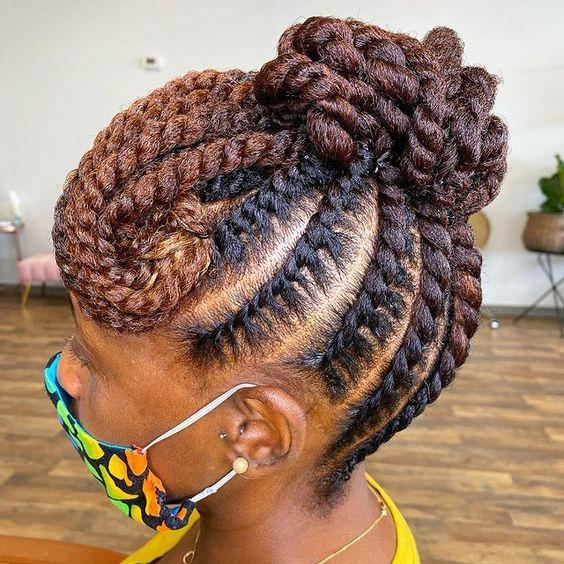 flat twists on 4c hair