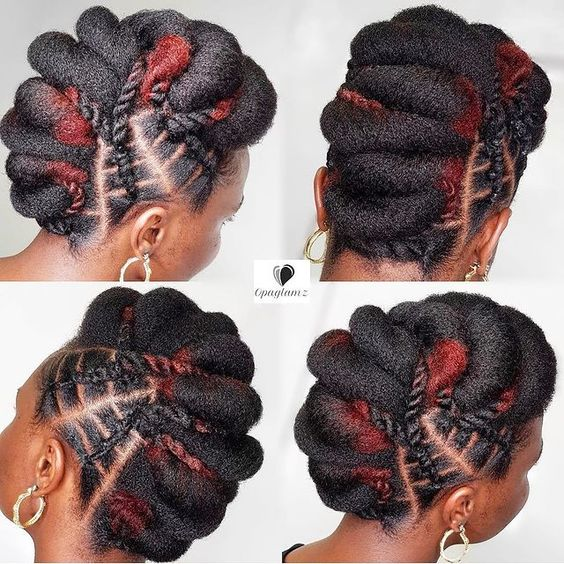 updo on 4c hair for weddings