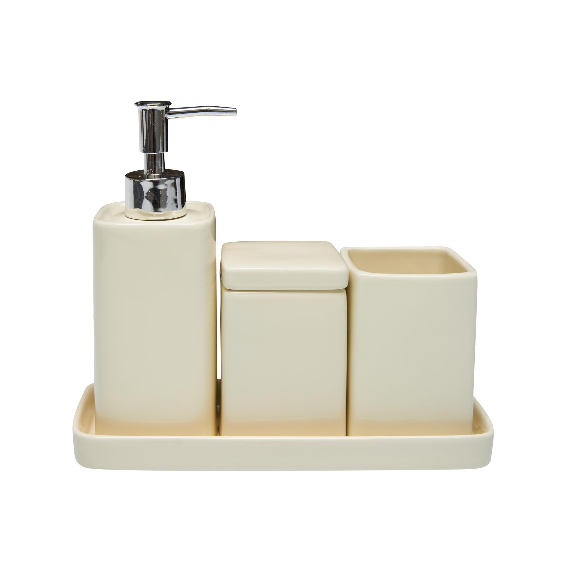 Set 4 accessori bagno ceramica  coincasa